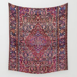 Kashan Central Persian Silk Rug Print Wall Tapestry