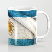 argentina Mugs featuring Flags - Argentina by Ale Ibanez