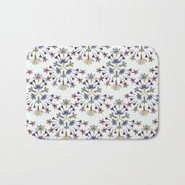 Radiating Flower Collage Bath Mat