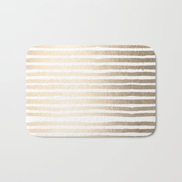 White Gold Sands Shibori Stripes Bath Mat