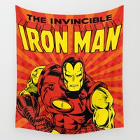 ironman Wall Tapestries featuring IronMan 2 by WaXaVeJu