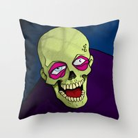 zombie Throw Pillows featuring Zombie by Francisco Martinez