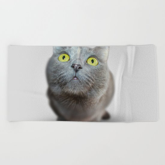 The Cat's Stare Beach Towel