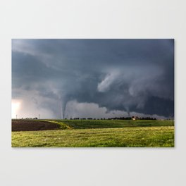 Twins - Two Tornadoes Touch Down Near Dodge City Kansas Canvas Print