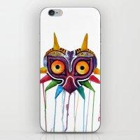 majoras mask iPhone & iPod Skins featuring majoras mask by Haily Melendez