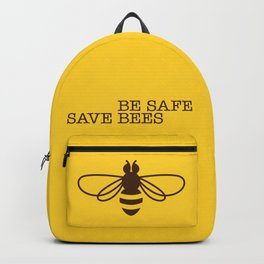 Be safe - save bees Backpack