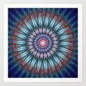 groovy bloom in blue, pink, orange and turquoise by walstraasart