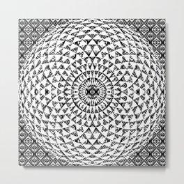 Aztec Pattern With Mandala Metal Print