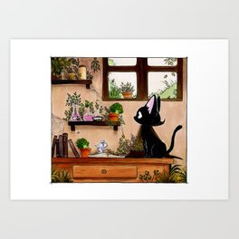 Suie and mouse Art Print