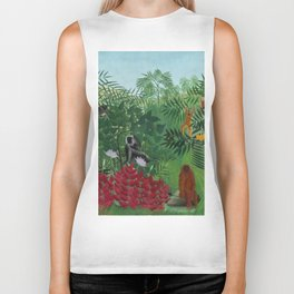 """Henri Rousseau """"Tropical Forest with Apes and Snake"""", 1910 Biker Tank"""