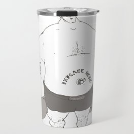 'Inflate Here' Travel Mug