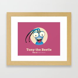 Tony the Beetle Framed Art Print