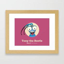 Tony the Beetle Framed Art Print