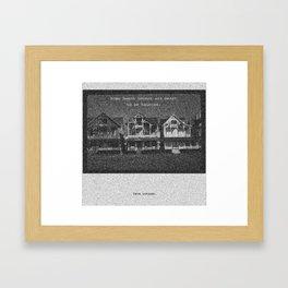 Haunted Beach Houses Framed Art Print