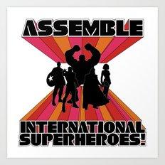 International Superheroes Art Print