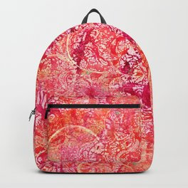 Abundance, Abstract Art Circles Grunge Backpack