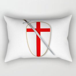 Crusaders Shield and Sword Rectangular Pillow