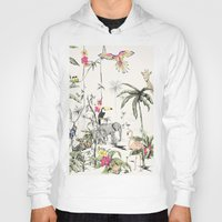 jungle Hoodies featuring Jungle by Annet Weelink Design