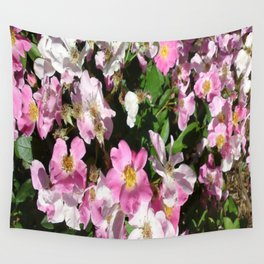 White and Pink Wall Tapestry