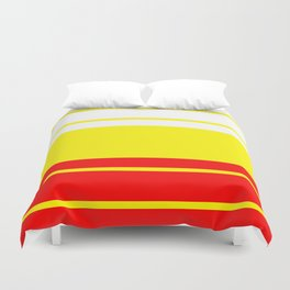 TEAM COLORS 9...Red, white and yellow Duvet Cover