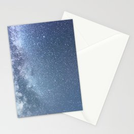Starry sky with millions of stars, Milky Way galaxy Stationery Cards