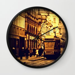 Vintage Style Tram Days Wall Clock
