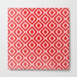 Mid Century Modern Diamond Ogee Pattern 156 Metal Print