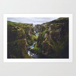 Icelandic Canyon Art Print