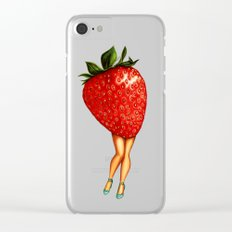 Strawberry Girl Clear iPhone Case