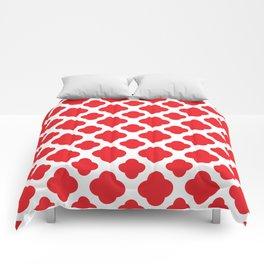 Red Quatrefoil Pattern Comforters