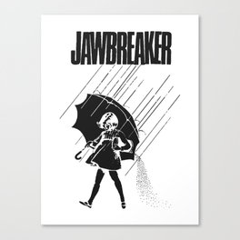 Jawbreaker Girl with umbrella Canvas Print