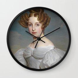 Portrait of Elise Dorothea Friederike by Ernst Thelott Wall Clock