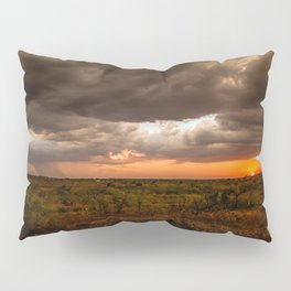 West Texas Sunset - Colorful Landscape After Storms Pillow Sham