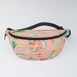 Watercolour Lime Pattern Peach Fanny Pack