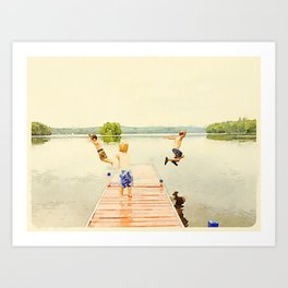 Boys of Summer Art Print