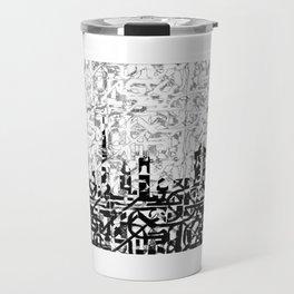 Arabic Alphabets: Dubai Skyline Travel Mug
