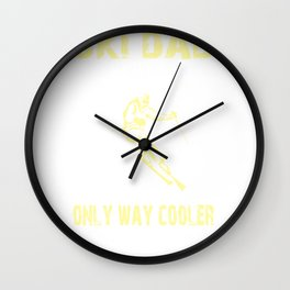 Funny Ski Dad Design Skier Gift for Fathers Skiing Gift Wall Clock