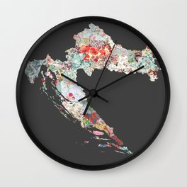 Croatia map Wall Clock