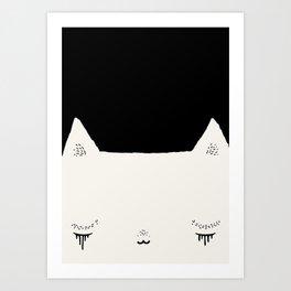 cat very sad Art Print