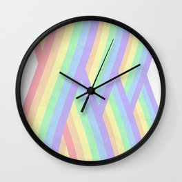 """Rainbow shine"" geometrical minimal art Wall Clock"