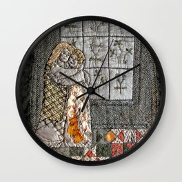 Golden couple Wall Clock