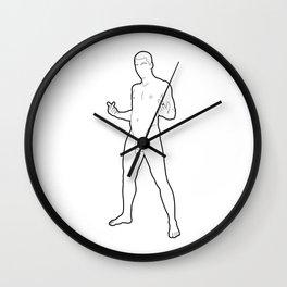 Skinflint Fuck You v.2 Wall Clock