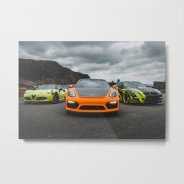 3 bright exotic modified cars Metal Print