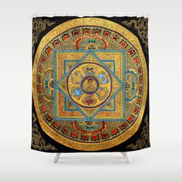 Buddhist Hindu Mandala 23 Shower Curtain