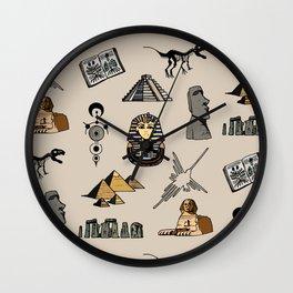 Dark Archeo pattern Wall Clock