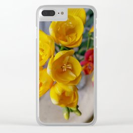 freesias bouquet Clear iPhone Case