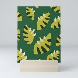 Pretty Clawed Green Leaf Pattern Mini Art Print