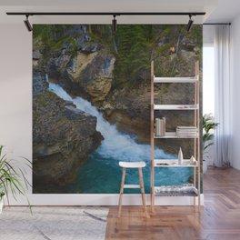 Beauty Creek & Stanley Waterfalls in Jasper National Park, Canada Wall Mural