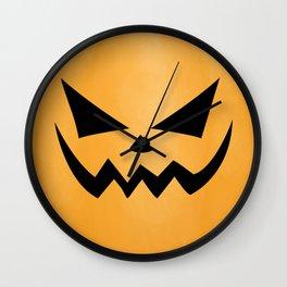 Scary Jack-O-Lantern Wall Clock