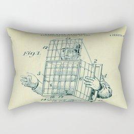 Vintage Baseball Catcher Equipment Patent (1904) Rectangular Pillow